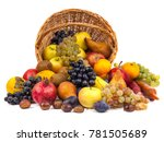 apples and other fruits in a... | Shutterstock . vector #781505689