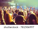the audience watching the... | Shutterstock . vector #781506997