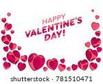 valentines day background.... | Shutterstock .eps vector #781510471