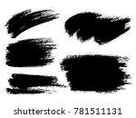 painted grunge stripes set.... | Shutterstock .eps vector #781511131