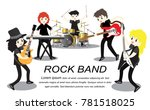 musicians and musical... | Shutterstock .eps vector #781518025