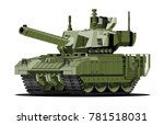 cartoon modern armored tank.... | Shutterstock .eps vector #781518031