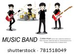 musicians and musical... | Shutterstock .eps vector #781518049