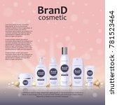 3d realistic cosmetic bottle... | Shutterstock .eps vector #781523464