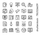 seo and marketing vector icons ... | Shutterstock .eps vector #781526659
