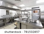 modern kitchen equipment in a... | Shutterstock . vector #781532857