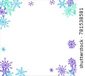 winter frame with cute doodle... | Shutterstock .eps vector #781538581