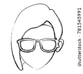 woman face with sunglasses | Shutterstock .eps vector #781545991