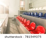 Empty Tribunes. A Colorful...