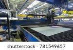 industrial laser cutting... | Shutterstock . vector #781549657