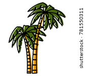 tree palms isolated | Shutterstock .eps vector #781550311