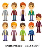 cartoon charming young man icon | Shutterstock .eps vector #78155254