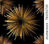 seamless fireworks on black... | Shutterstock .eps vector #781552735
