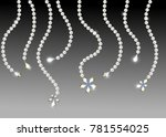 pearl. gems. beads. jewelry.... | Shutterstock .eps vector #781554025
