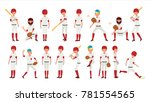 sport baseball player vector.... | Shutterstock .eps vector #781554565