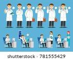 doctor's activities in hospital | Shutterstock .eps vector #781555429