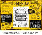 restaurant cafe menu  template... | Shutterstock .eps vector #781556449