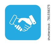 business handshare icon. done... | Shutterstock .eps vector #781558375
