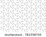 simple geometric seamless... | Shutterstock .eps vector #781558744