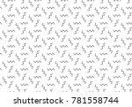 simple geometric seamless... | Shutterstock .eps vector #781558744