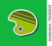 paper sticker on stylish... | Shutterstock .eps vector #781563619