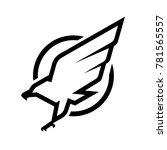eagle logo  symbol. | Shutterstock .eps vector #781565557