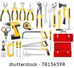 hand work tools set | Shutterstock .eps vector #78156598