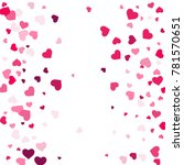heart confetti beautifully... | Shutterstock .eps vector #781570651