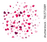 heart confetti beautifully...   Shutterstock .eps vector #781571089