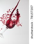 red wine splashing out of a... | Shutterstock . vector #78157207