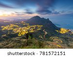 jiufen  taiwan hillside roads... | Shutterstock . vector #781572151