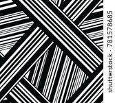 monochrome seamless geometric... | Shutterstock .eps vector #781578685