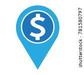 dollar sign money icon | Shutterstock .eps vector #781580797
