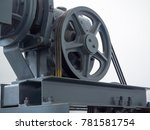 pulley wheel and engine in... | Shutterstock . vector #781581754
