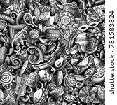 cartoon cute doodles latin... | Shutterstock .eps vector #781583824