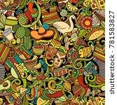 cartoon cute doodles latin... | Shutterstock .eps vector #781583827