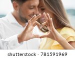 beautiful couple in love making ... | Shutterstock . vector #781591969
