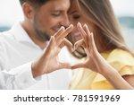 beautiful couple in love making ... | Shutterstock . vector #781591969