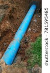 place an underground pipe in a... | Shutterstock . vector #781595485