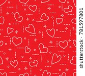 cute seamless pattern with... | Shutterstock .eps vector #781597801