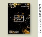 gold explosion paint splatter...   Shutterstock .eps vector #781599721