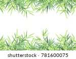 bamboo horizontal frame with... | Shutterstock .eps vector #781600075