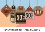 vintage style sale tags design | Shutterstock .eps vector #781602049