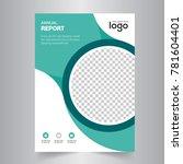 flyer design. business brochure ... | Shutterstock .eps vector #781604401