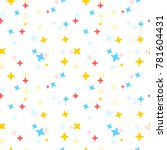 seamless colorful stars pattern | Shutterstock .eps vector #781604431