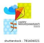 celebrate makar sankranti...   Shutterstock .eps vector #781606021
