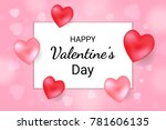 happy valentine's day lettering ... | Shutterstock .eps vector #781606135