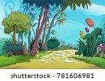 cartoon landscape illustration | Shutterstock . vector #781606981