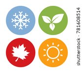 colorful season icons. winter ... | Shutterstock .eps vector #781608514