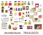 kitchen icon material... | Shutterstock .eps vector #781613221